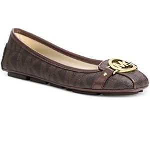 Michael Kors Fulton Brown Loafer Flats